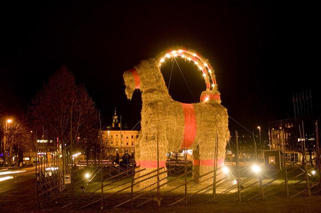 Gävle Goat คริสต์มาส สวีเดน